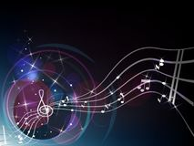 Clef background Royalty Free Stock Image