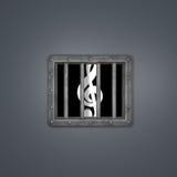 Clef behind prison window Stock Image