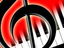 Clef de triplo e chaves do piano Imagens de Stock