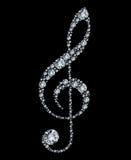 clef diamentu treble Zdjęcie Stock