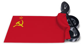 Clef and flag of the soviet union Stock Images