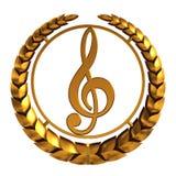 clef golden treble modell 3d Arkivbild