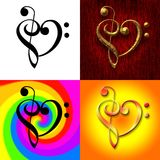 Clef Hearts Royalty Free Stock Photos