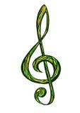 clef ilustracyjny treble wektor Zdjęcie Stock