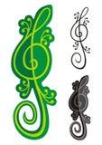 clef jaszczurek treble ilustracji