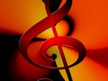 Clef, Music, Vibration, Movement Royalty Free Stock Photography