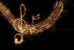 Clef musical ilustração royalty free