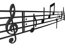 Clef and musical notes Stock Photos