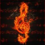 clef ogień Zdjęcia Royalty Free