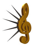 Clef with prickles. 3d rendering Royalty Free Stock Photo