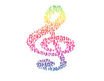 Clef music rainbow. Stock Images