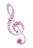 clef skrzypce zima Zdjęcia Royalty Free