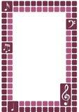 clef sopranów ramowy Fotografia Stock
