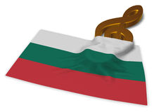 Clef symbol and bulgarian flag. 3d rendering Royalty Free Stock Photography