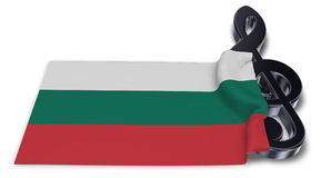 Clef symbol and bulgarian flag. 3d rendering Royalty Free Stock Image