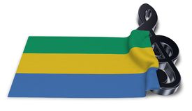 Clef symbol and flag of gabon Stock Photos