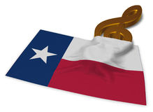 Clef symbol and flag of texas Stock Photo