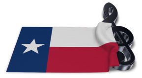 Clef symbol and flag of texas Royalty Free Stock Images