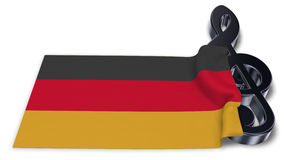 Clef symbol and german flag Stock Photo