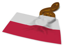 Clef symbol and polish flag Royalty Free Stock Images