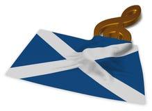 Clef symbol and scottish flag Stock Photo
