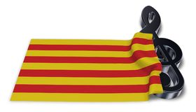 Clef symbol symbol and flag of catalonia Stock Images