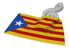 Clef symbol symbol and flag of catalonia Stock Photos