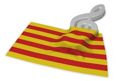 Clef symbol symbol and flag of catalonia Royalty Free Stock Photos