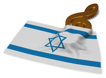Clef symbol symbol and flag of israel Stock Photos