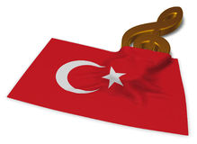 Clef symbol symbol and flag of turkey Royalty Free Stock Photography