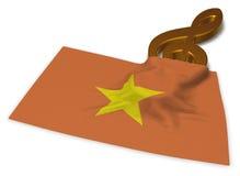 Clef symbolu symbol i flaga Vietnam Zdjęcie Royalty Free