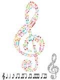 clef treble Zdjęcia Royalty Free