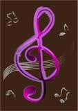clef treble wektor Zdjęcie Stock