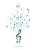 clef zauważa treble Obrazy Royalty Free