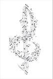 cleff muzyka zauważa treble Obrazy Royalty Free