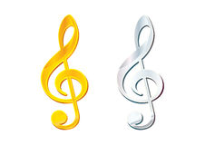 Clefs Royalty Free Stock Photography