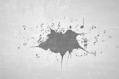 Clefs de musique sur le mur Image stock