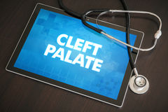 Cleft palate (congenital disorder) diagnosis medical concept on. Tablet screen with stethoscope stock photos