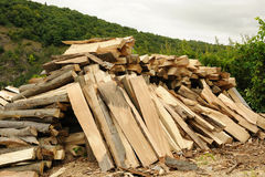 Cleft timber Royalty Free Stock Images