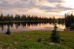 Clegg Lake with dusk sky. Stock Image