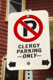 Clegy Parking Only sign in Charlottetown Stock Photos