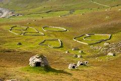 Cleits på St Kilda, yttre Hebrides, Skottland royaltyfria bilder