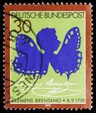 Clemens Brentano, bicentenario del nacimiento del serie de Clemens Brentano, circa 1978 imagen de archivo