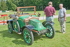Clement Bayard car dated to 1914 at Brodie Castle. Clement Bayard car made in 1914 on show at the Historic Wheels Rally held at Brodie Castle, Forres, Moray  on Royalty Free Stock Image