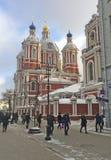 Clement Church教皇在莫斯科,俄罗斯 免版税图库摄影