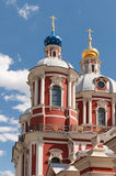 Clement Church in Moscow. The church of Saint Clement of Rome in Moscow with lantern on the foreground Royalty Free Stock Photo