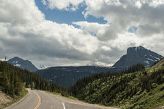 Clement's Mountain, Montana. As viewed from Going To The Sun Road in Glacier National Park Royalty Free Stock Photography