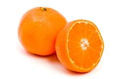 Clementina arancione dell'agrume Fotografie Stock Libere da Diritti