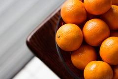Clementina em uma bacia Imagem de Stock Royalty Free