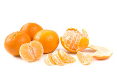 Clementina no branco Imagens de Stock Royalty Free